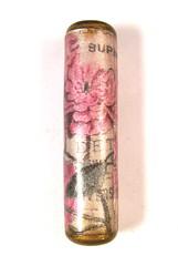 Vintage Florals Series - Pink Rose Cylinder Bead 2 (1)