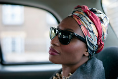 london 2010 - eniye (travelight) Tags: leica portrait colour london beauty fashion digital headscarf m8 rayban b1 2010 wayfarers travelight leicasummiluxm35mmf14asph eniye