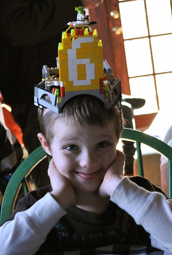 Six-Year-Old and His Crown of Legos