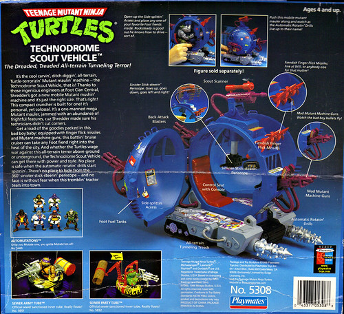 "TEENAGE MUTANT NINJA TURTLES :: ""Technodrome Scout Vehicle"" { 1993 } KB Toys Reissue ii  (( 1998 ))"