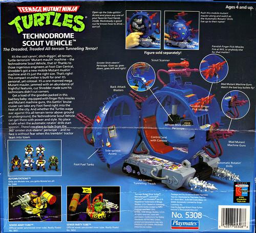 """TEENAGE MUTANT NINJA TURTLES :: """"Technodrome Scout Vehicle"""" { 1993 } KB Toys Reissue ii  (( 1998 ))"""