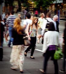 47. (Lastien) Tags: street city portrait people motion blur girl wednesday focus streetphotography australia brisbane busy queensland 365 crosswalk 47 365project 47365 panasonicdmclz10 imgettingfedupwiththetinylegroominsomebuses ineverknowhowtosit theresusawrittenatthebackofmyshoes