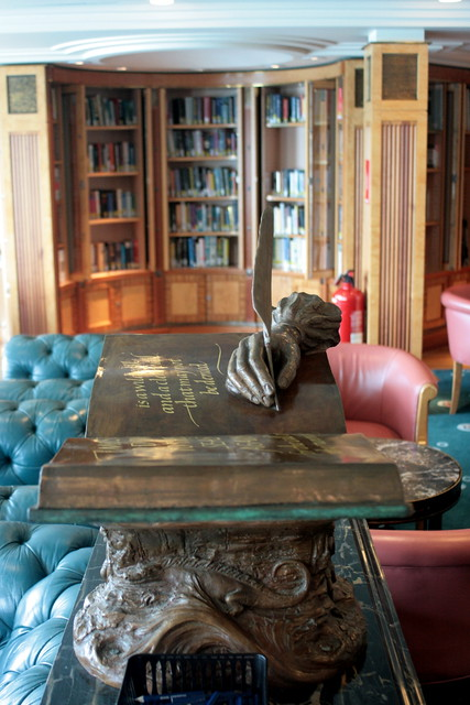 There is a library on the ship!