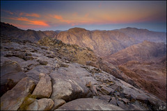 Sinai Dawn (katepedley) Tags: longexposure mountain mountains saint st rock sunrise canon landscape dawn tencommandments mt desert tripod egypt middleeast east mount moses catherine granite bible 5d geology middle peninsula barren musa 1740mm biblical sinai beltofvenus jebel jabal rift polariser gndfilter gebel batholith   gabal