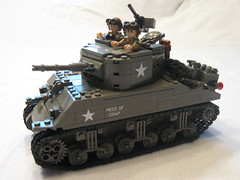 "M4A1 (75) Sherman ""Piece of Crap"" (""Rumrunner"") Tags: army tank lego wwii helmet american ww2 armour armored 3rd m4 sherman worldwar2 allies m4a1"