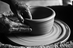 Skillful Hands (Tipu Kibria~~BUSY~~) Tags: potter pottery pot pottersworkshop people lifestyle village villagepeople worker villagelife shimiliya savar dhaka bangladesh canon eos 400d xti canonef50mm18 1001nights
