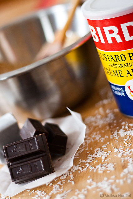 Chocolate and custard powder