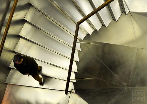 La escalera del Caixa Forun