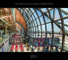 Suvarnabhumi International Airport - Bangkok, Thailand (HDR) (farbspiel) Tags: travel vacation holiday tourism architecture photoshop geotagged thailand photography video asia southeastasia bangkok wideangle journey howto