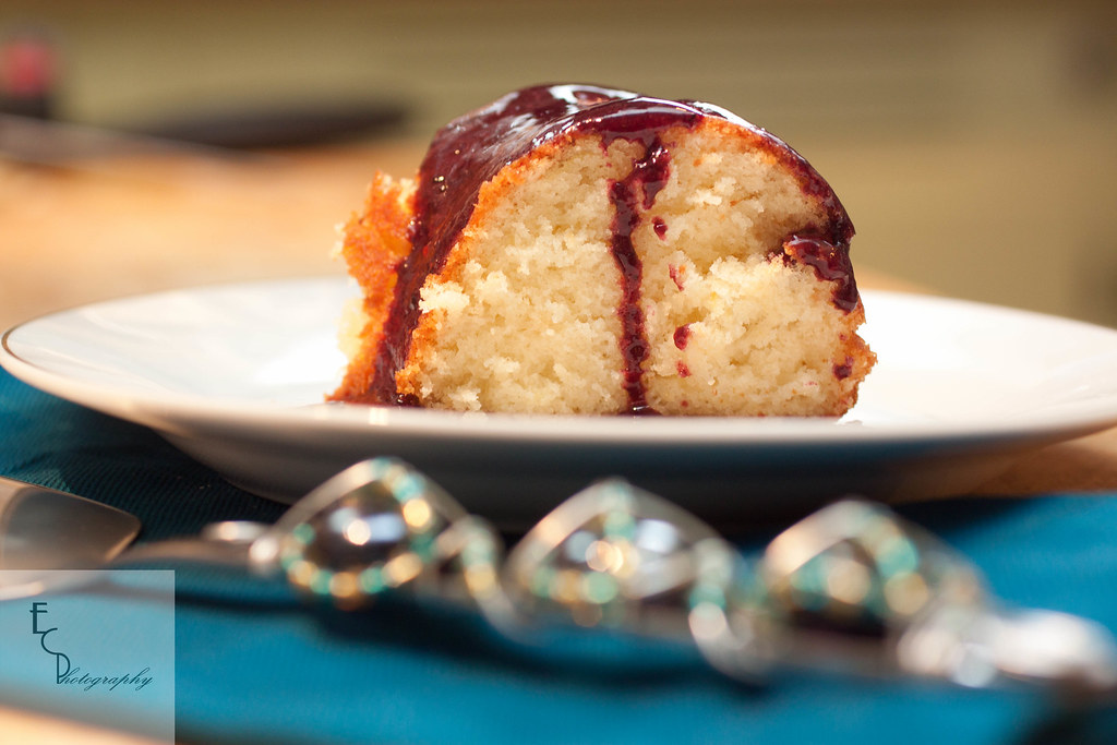5394664389 b9ae7a5952 b d Pomelo Cake with Blackberry Sauce