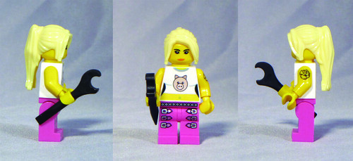 Custom minifig Miss Piggy
