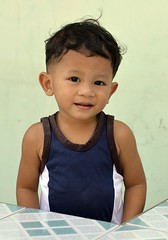 handsome boy (the foreign photographer - ฝรั่งถ่) Tags: handsome boy child tank top khlong bang bua portraits bangkhen bangkok thailand nikon d3200
