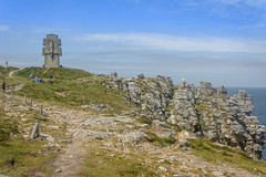 Pen Hir-80-1 (stevefge) Tags: bretagne brittany france penhir monument rocks cliffs people candid sky landscape reflectyourworld path coast