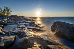 Golden sunset (j.ahava) Tags: longexposure landscape finland archipelago nikond750 nikkor1635f4 nd1000 sunset sea