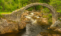 Carrbridge In The Scottish Highlands (williamrandle) Tags: carrbridge badennochstrathspey riverdulnain thehighlands scotland packhorsebridge bridge stone structure arch river water rapids summer 2017 holidays rocks trees history nikon d7100 sigma1835f18art