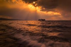 sunset 5792 (junjiaoyama) Tags: japan sunset sky light wave cloud weather landscape orange contrast colour bright lake island water nature spring