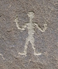Petroglyph / Chaco Culture NHP (Ron Wolf) Tags: anasazi anthropology archaeology chacoculturenationalhistoricalpark nationalpark nativeamerican puebloan anthromorph anthropomorph petroglyph rockart newmexico