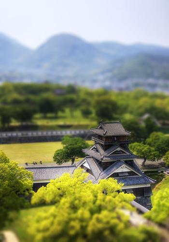 [フリー画像] 建築・建造物, 宮殿・城, 日本, HDR, 熊本県, 201007292300