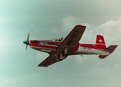 Small light aircraft at 1990s air show