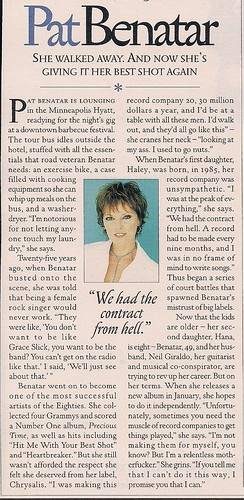 10/31/02 Rolling Stone Magazine (Pat Benatar Article)