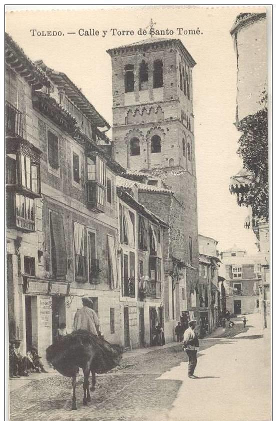Calle de Santo Tomé a inicios del siglo XX