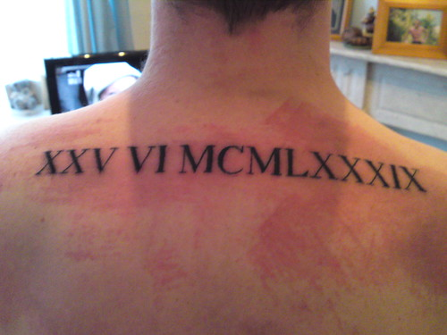 Roman Numerals Tattoo (Set)