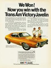 1973 AMC Javelin Trans Am Victory Edition (aldenjewell) Tags: ad victory amc 1973 transam javelin roywoods georgefollmer