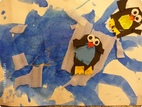 3Y6M剪貼作品~企鵝浮冰