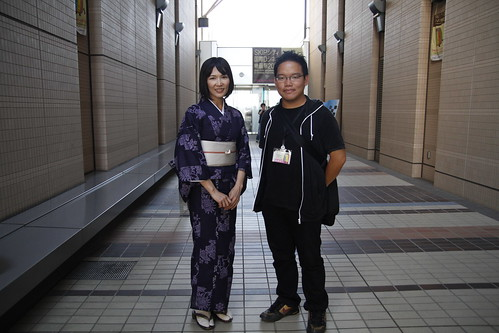 With KINGYO actress Qyoko Kudo. Skip City International D-cinema Film Fest (27/7/2010)