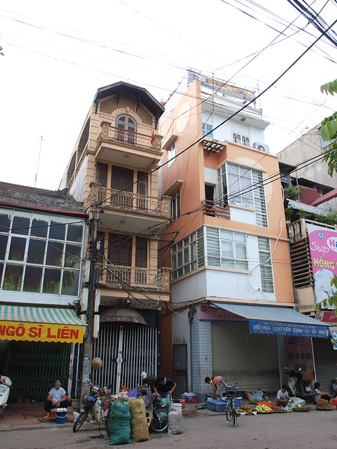 越南的瘦高建築物