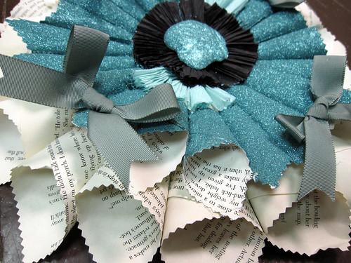 Vintage Paper Rosette: Blue Belle! 7