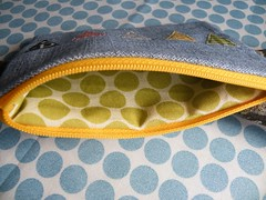 inside (monaw2008) Tags: handmade linen story jeans fabric pouch applique reused recyceled monaw monaw2008 curderoy upcyceled