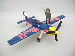 Red Bull Air Racer 15 (Lego Monster) Tags: race plane airplane lego aeroplane redbull stunt racer stuntplane airracing