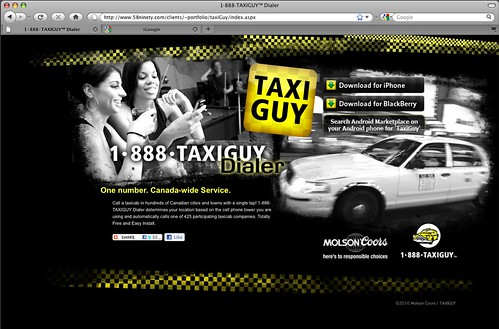 TAXIGUY Phone App Home PageHere's to responsible choicese