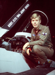 Self portrait in the alert barn, December 1978 (g.asher) Tags: iceland keflavik airforce usaf f4 coldwar 57thfis