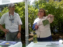 Mary Kay Malinoski and Graham Davis provided examples of plants with pest problems, to demonstrate what elements to watch out for in the garden.