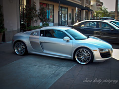 Audi R8 V10 (texan photography) Tags: silver texas houston fast audi galleria v10 r8 worldcars