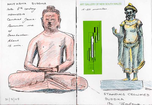 More Buddhas - 28th sketchcrawl