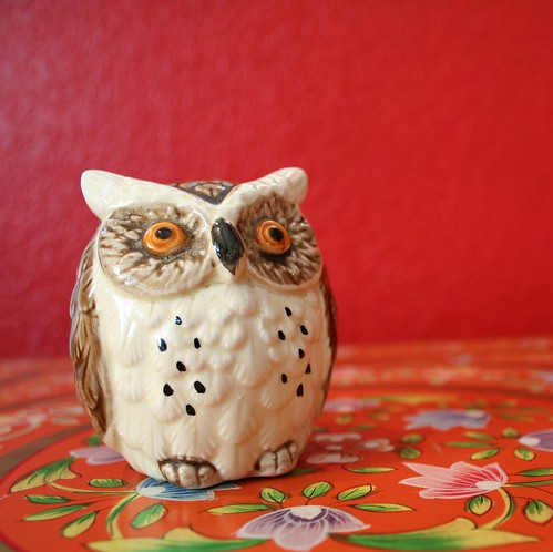 Vintage Owl Salt Shaker