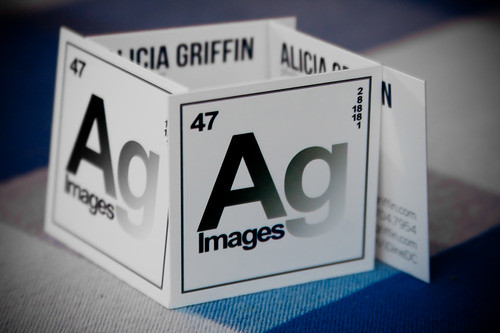 Square Business Cards Made for Alicia Griffin