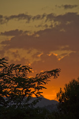 Tramonto dal Castello del Montjuic (<<<TheOne>>>) Tags: barcelona spain tramonto sundown august espana agosto catalunya barcellona montjuic spagna 2010 catalogna