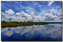Puffy Clouds (Fraggle Red) Tags: sky lake clouds nationalpark florida evergladesnationalpark canonef1740mmf4lusm hdr visitorcenter newvision enp 3exp ernestcoevisitorcenter miamidadeco dphdr pinnaclephotography peregrino27newvision
