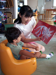 Wei reading to Ollie