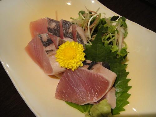 魚一で食べた子マグロのたたき