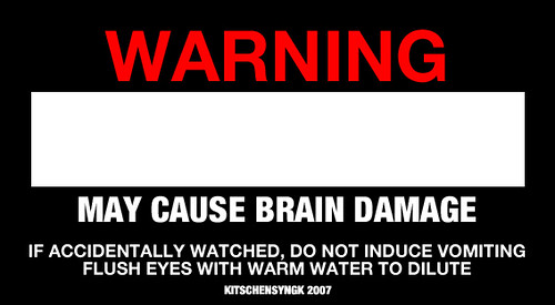 Bad Movie Warning Label
