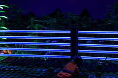 No One Left Behind (Catsy [CC]) Tags: rescue night mod lego military blacklight custom modification diorama ops moc catsy brickarms flickr:user=catsy lego:theme=military nooneleftbehind forcedperspecctive flickr:scale=mixed flickr:scale=minifig