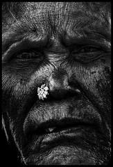 Mookuthi (Prabhu B Doss) Tags: portrait blackandwhite india nikon women faces human nosering wrinkles bnw d80 prabhub prabhubdoss zerommphotography 0mmphotography