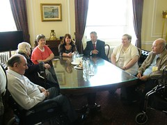 Residents of Pine Lodge Care Home meet the Fir...