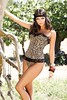 leopard corset   thong  Photoshoot In Ibiza