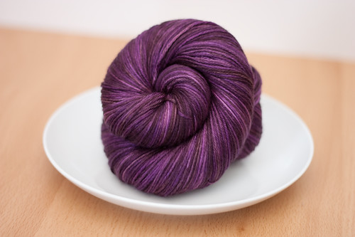 "Eclair Silk Sock in ""Plum Cake'"